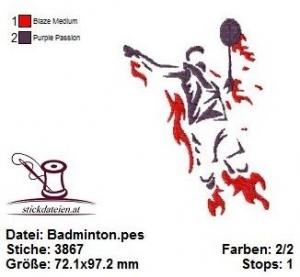 ☆☀☆ Badminton, Ballsport, Stickdatei 10x10 ☆☀☆  - Handarbeit kaufen