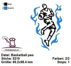 ☆☀☆ Basketball, Ballsport, Stickdatei 10x10 ☆☀☆  - Handarbeit kaufen