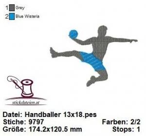 ☆☀☆ Handballer, Ballsport, Stickdatei 13x18 ☆☀☆  (Kopie id: 100224710)