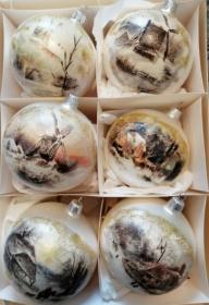 Weihnachtskugel Set, Weihnachten, Weihnachtsdeko, Weihnachtsgeschenk, personalisiert, Decoupage Methode, Weihnachtsschmuck, Glaskugel  - Handarbeit kaufen
