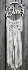 Traumfänger makramee, Makramme mit Name, individualisierbar, Wanddekoration, 25 CM Durchmesser - Handarbeit kaufen