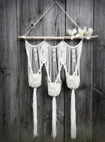 3x Makramee Blumenampel, makramee Wandblumenampel , Wanddekoration - Handarbeit kaufen