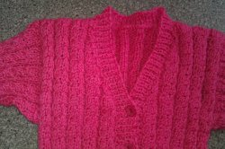 Babyjacke in pink