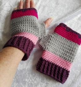 Bunte fingerlose Handschuhe - Handarbeit kaufen