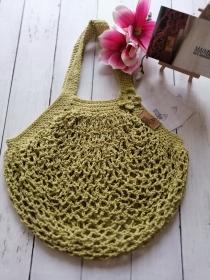MAINbag.Einkaufsnetz * GRÜN * Aus 100% recycelter Baumwolle . 100% handmade . 100% plastikfrei Einkaufen