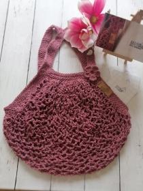MAINbag.Einkaufsnetz * ALT-ROSA * Aus 100% recycelter Baumwolle . 100% handmade . 100% plastikfrei Einkaufen