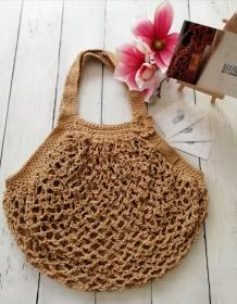 MAINbag.Einkaufsnetz * BEIGE * Aus 100% recycelter Baumwolle . 100% handmade . 100% plastikfrei Einkaufen