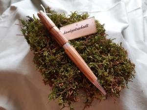 Eschenholz-Kugelschreiber, handgedrechselt, Unikat
