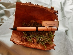 Birkenholz-Kugelschreiber, handgedrechselt, Unikat