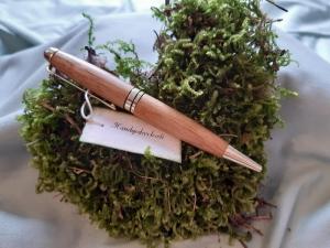 Eichenholz - Kugelschreiber, handgedrechselt, Unikat   - Handarbeit kaufen