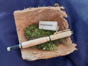 Thujen u. Lindenholz - Tintenroller, handgedrechselt, Unikat