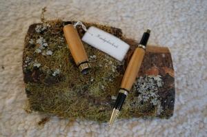 Kirschholz Tintenroller, handgedrechselt, Unikat   - Handarbeit kaufen