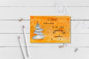 Aquarellierte Kunstpostkarte mit  Glanzlack beschichtet incl. Briefumschlag , Handlettering  - Handarbeit kaufen