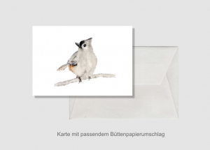 Kunstkarte incl. Büttenumschlag Fine Art Print des Aquarelles, Vogel - Handarbeit kaufen