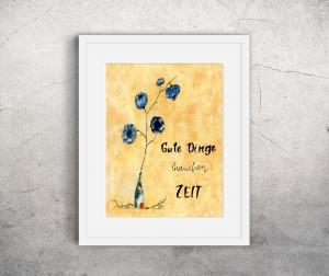 Wanddekoration Poster, hochwertiger Kunstdruck A4 - Handarbeit kaufen