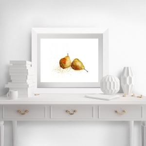 Fine Art Print vom Original-Aquarell Birnen, in verschiedenen Größen erhältlich  - Handarbeit kaufen