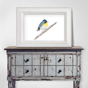 Fine Art Print des handgemalten Aquarells , Vogel