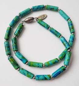 Keramikkette Röhrchen Picasso Petrol-Grün-Blau 1204 Kugel HÄ