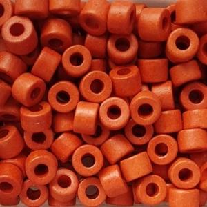 100 Keramikperlen Röhrchen Zwischenstück RM1032 orange