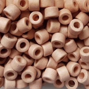 100 Keramikperlen Röhrchen Zwischenstück RM1044 lachsrosa - Handarbeit kaufen