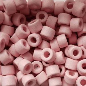 100 Keramikperlen Röhrchen Zwischenstück RM1038 rosa