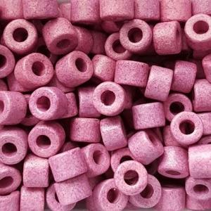 100 Keramikperlen Röhrchen Zwischenstück RM1036 purpur