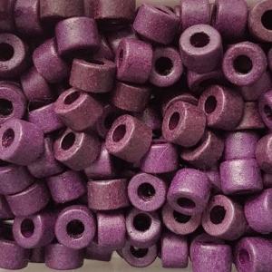 100 Keramikperlen Röhrchen Zwischenstück RM1035 dunkelviolett - Handarbeit kaufen