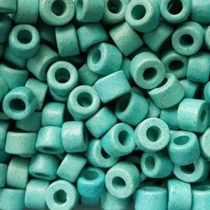 100 Keramikperlen Röhrchen Zwischenstück RM1057 türkis - Handarbeit kaufen