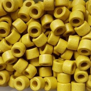 100 Keramikperlen Röhrchen Zwischenstück RM1021 pistazie - Handarbeit kaufen