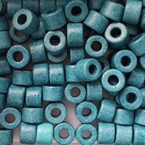 100 Keramikperlen Röhrchen Zwischenstück RM1055 wassergrün - Handarbeit kaufen