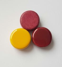 3 Keramikperlen Disc Scheibe PB Farbenset 1 - Handarbeit kaufen