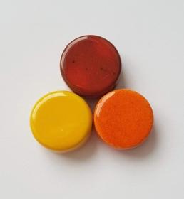 3 Keramikperlen Disc Scheibe PB Farbenset 2 - Handarbeit kaufen