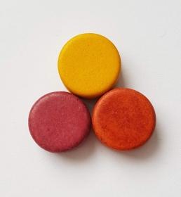 3 Keramikperlen Disc Scheibe PB Farbenset 3 - Handarbeit kaufen