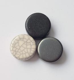 3 Keramikperlen Disc Scheibe PB Farbenset 7 - Handarbeit kaufen