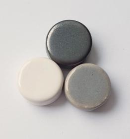 3 Keramikperlen Disc Scheibe PB Farbenset 11 - Handarbeit kaufen