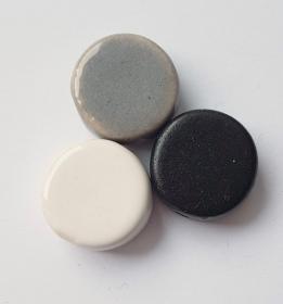 3 Keramikperlen Disc Scheibe PB Farbenset 13 - Handarbeit kaufen
