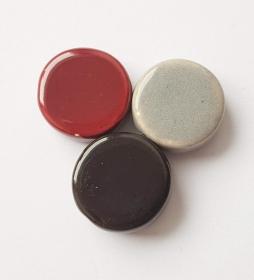 3 Keramikperlen Disc Scheibe PB Farbenset 15 - Handarbeit kaufen