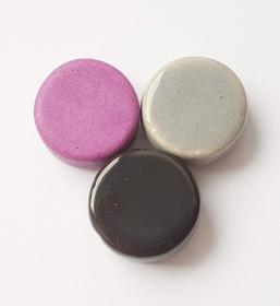 3 Keramikperlen Disc Scheibe PB Farbenset 16 - Handarbeit kaufen