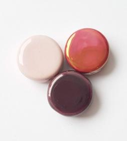 3 Keramikperlen Disc Scheibe PB Farbenset 21 - Handarbeit kaufen
