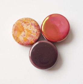 3 Keramikperlen Disc Scheibe PB Farbenset 22 - Handarbeit kaufen