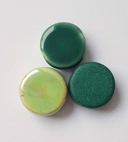 3 Keramikperlen Disc Scheibe PB Farbenset 40 - Handarbeit kaufen
