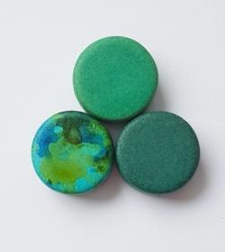 3 Keramikperlen Disc Scheibe PB Farbenset 41 - Handarbeit kaufen
