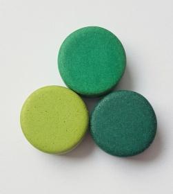 3 Keramikperlen Disc Scheibe PB Farbenset 42 - Handarbeit kaufen