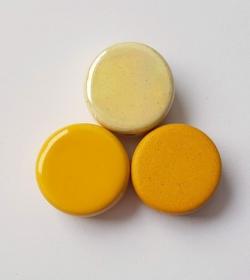 3 Keramikperlen Disc Scheibe PB Farbenset 45