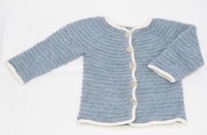 Babyjäckchen handgestrickt hellblau Gr. 56/62 Alpaca kaufen Geschenk