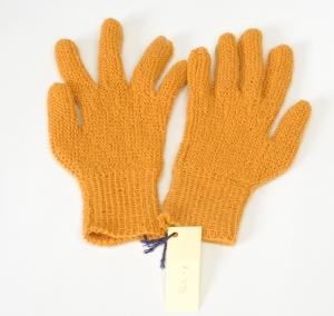 Finger-Handschuhe Wollhandschuhe handgestrickt gelb Gr.7-7½ Wolle kaufen