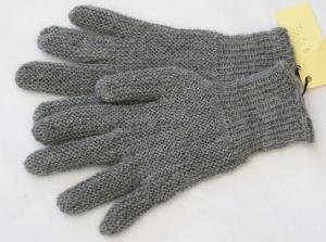 Finger-Handschuhe Wollhandschuhe handgestrickt grau Gr.7½ - 8 Wolle kaufen