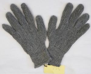 Finger-Handschuhe Wollhandschuhe handgestrickt grau Gr.7 - 7½ Wolle kaufen