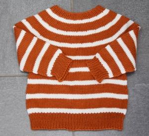Baby Kinder Pullover handgestrickt rost Gr. 80-86  Merino Baumwolle kaufen