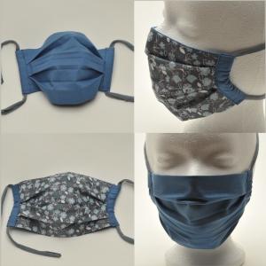 Mund-Nasen-Maske Baumwolle zweilagig haltbar ohne Gummi und Draht